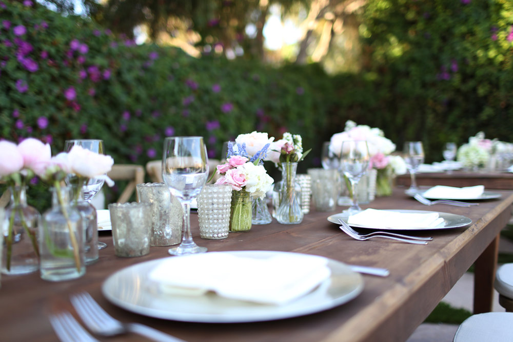 This was our table setting at our wedding. Our environment can enable more mindful eating. Take time to relax and enjoy your food.  Photo captured by  Sayoko Lynn photography