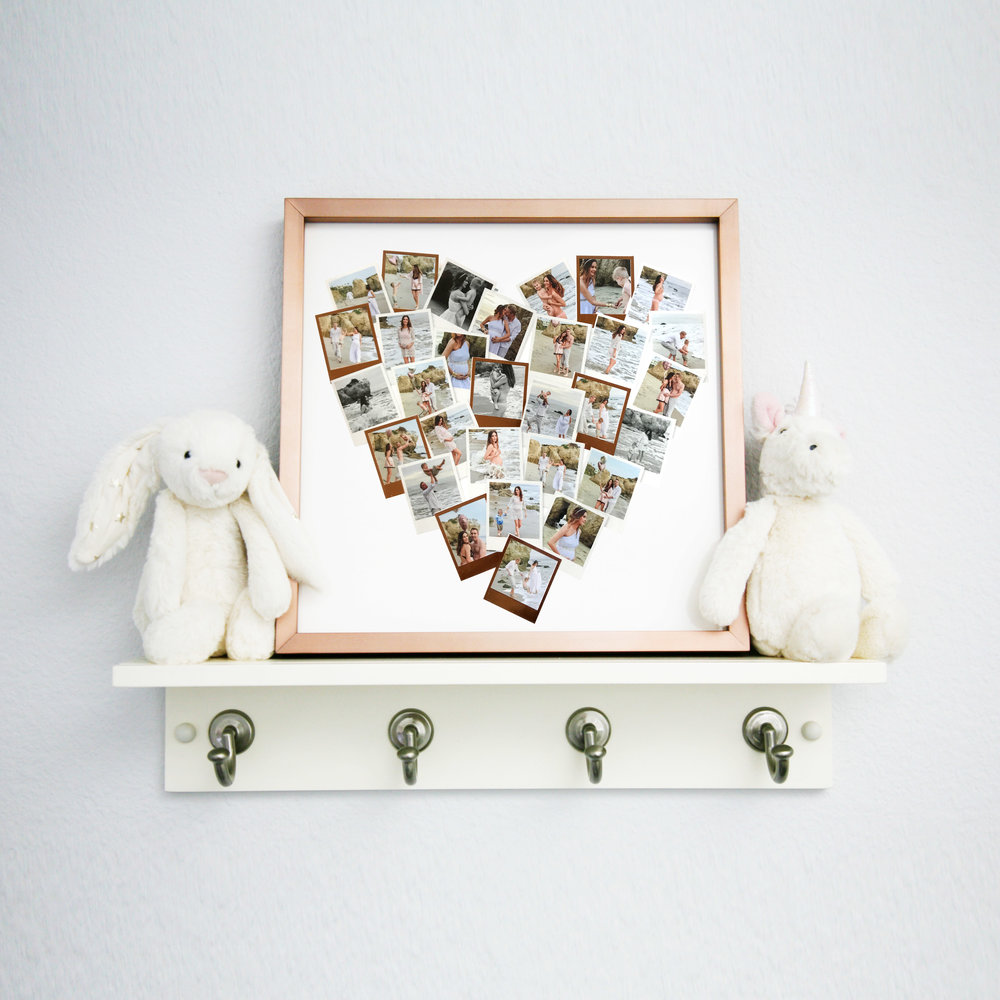 The beginning of our nursery corner started with a personalized photo art from    MInted   .