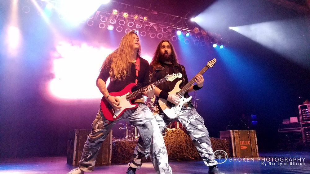 Chris Rorland and Tommy Johansson rocking out Huntington, NY