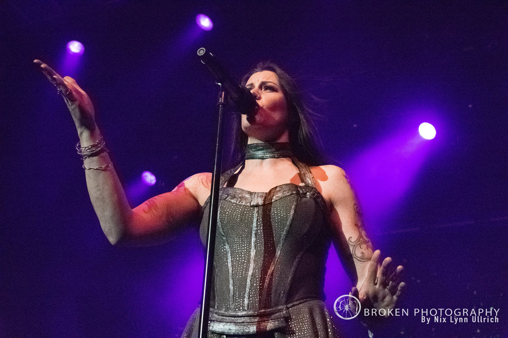 Floor Jansen of Nightwish rocking the stage in Anaheim
