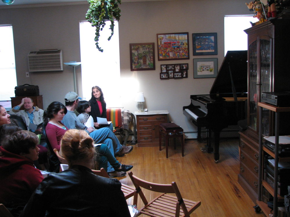 Students and guests anticipating the start of the piano party!