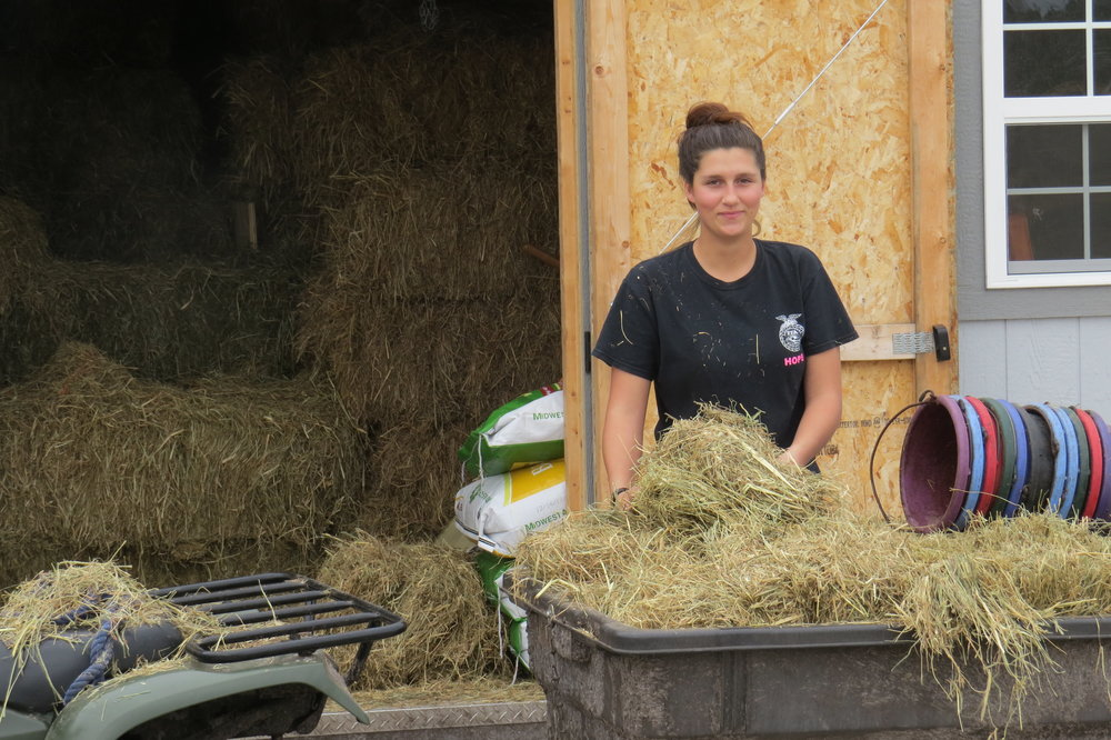 Macayla - A great asset to the farm. What would we do without her?