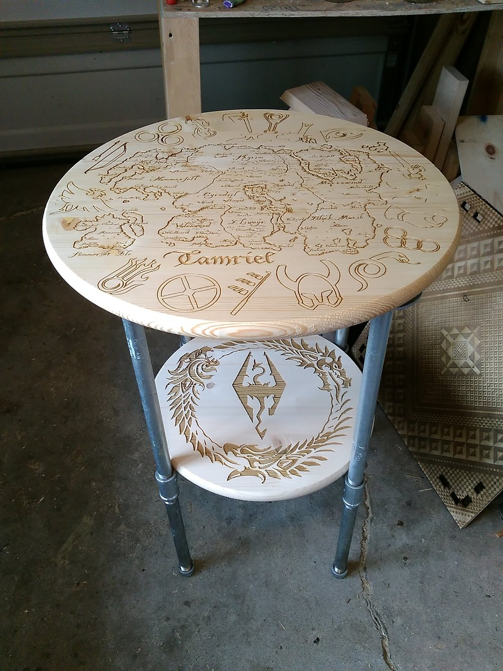 A sample of a custom table produced for a local nerd.