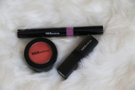 Atomic liquid matte, Tropicana blush, and Russian lipstick