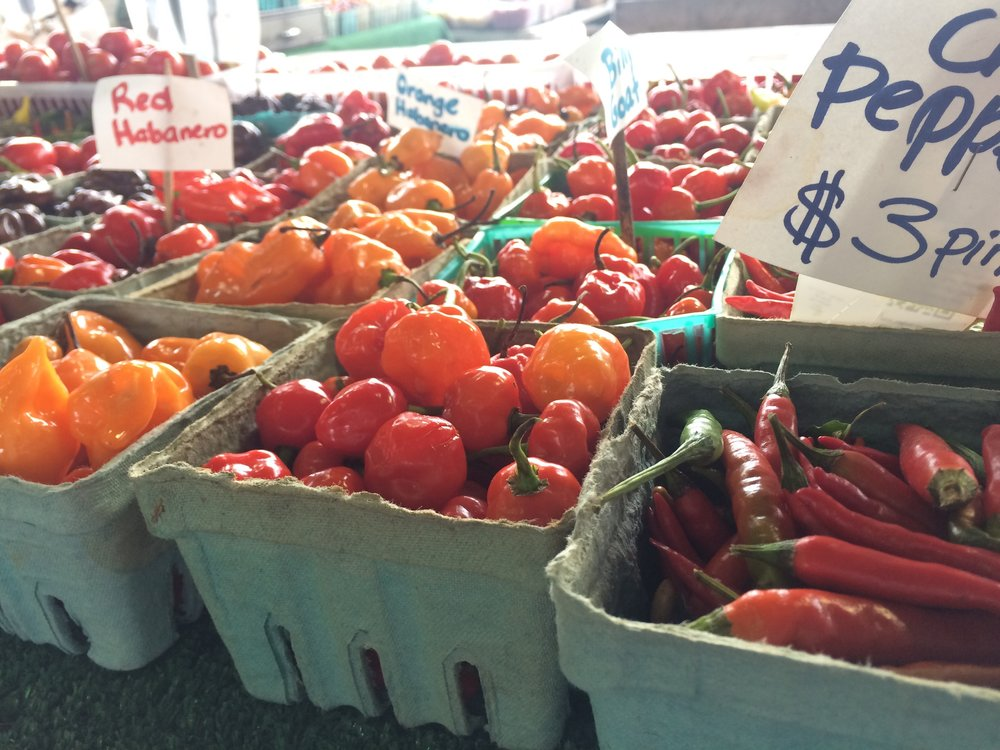 Farmers Market Hot Peppers
