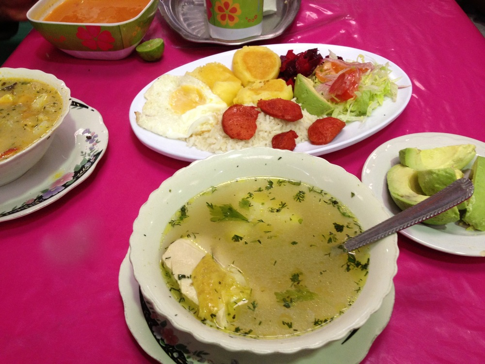 Freshly made healthy soups are a staple at lunch and often at breakfast too.