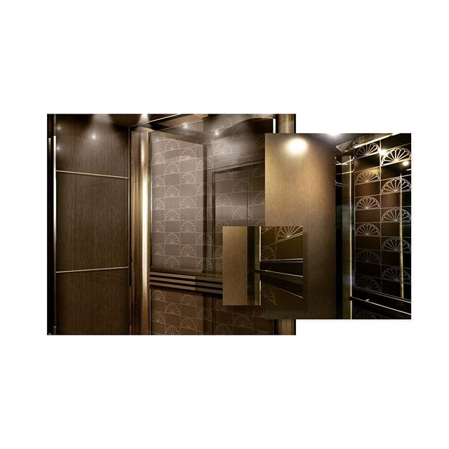 Bespoke elevator interior design for 30-50 Hillsboro modernization. Can you tell which image is the rendering and which is real life? #designedbyJNKM