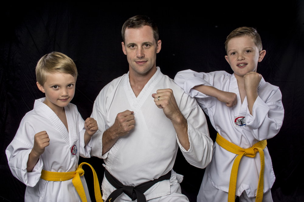 Josh earned his black belt under Marty Knight when he was a kid. Now he brings his sons.
