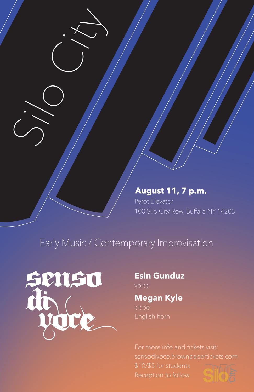 Poster design for Senso di Voce