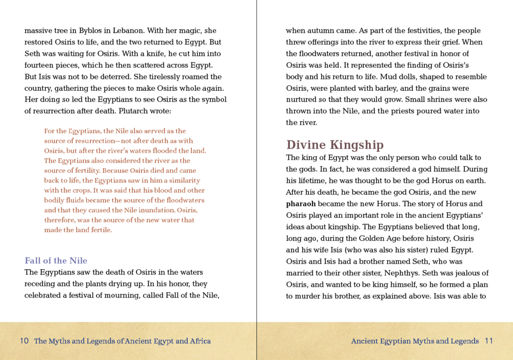 Layout design for Cavendish Square publishing