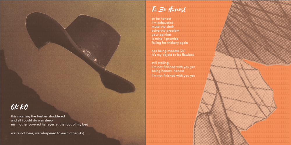 Layout design for Lalalangue album spread