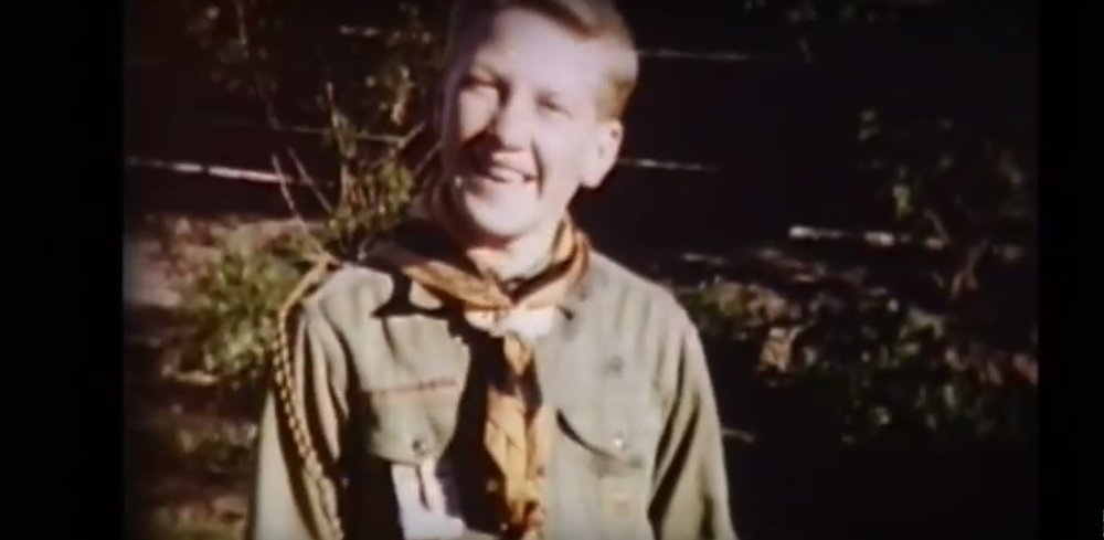 Archival footage of the filmmaker and artist as a young boy.