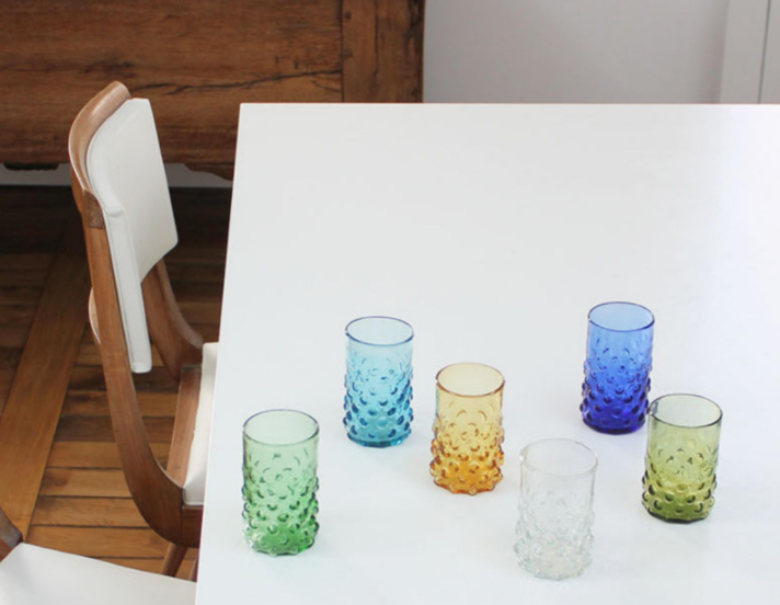 Bumpy Glass Tumbler Set of Two $50