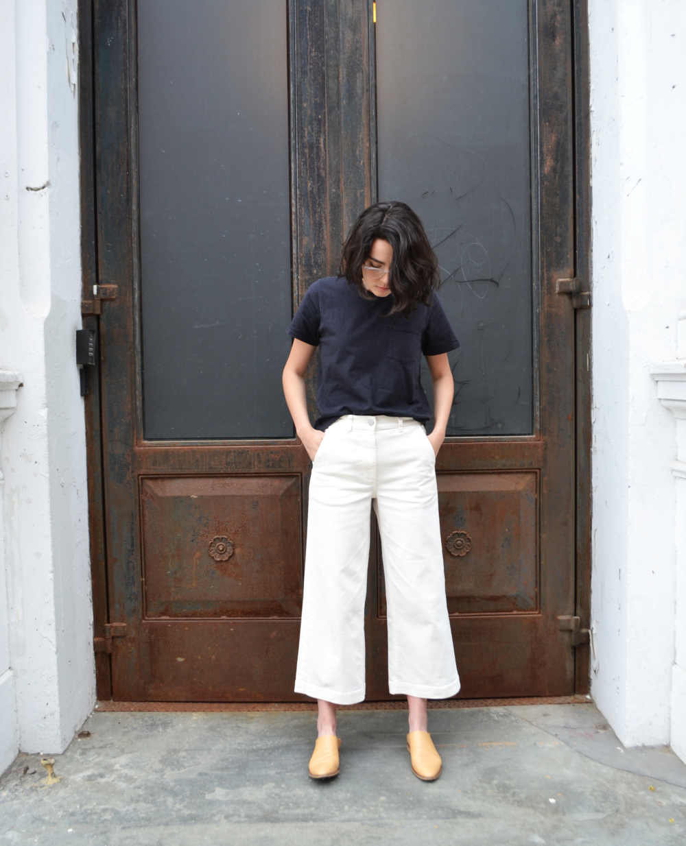 Everlane | The Wide Leg Crop Pant in Bone $68