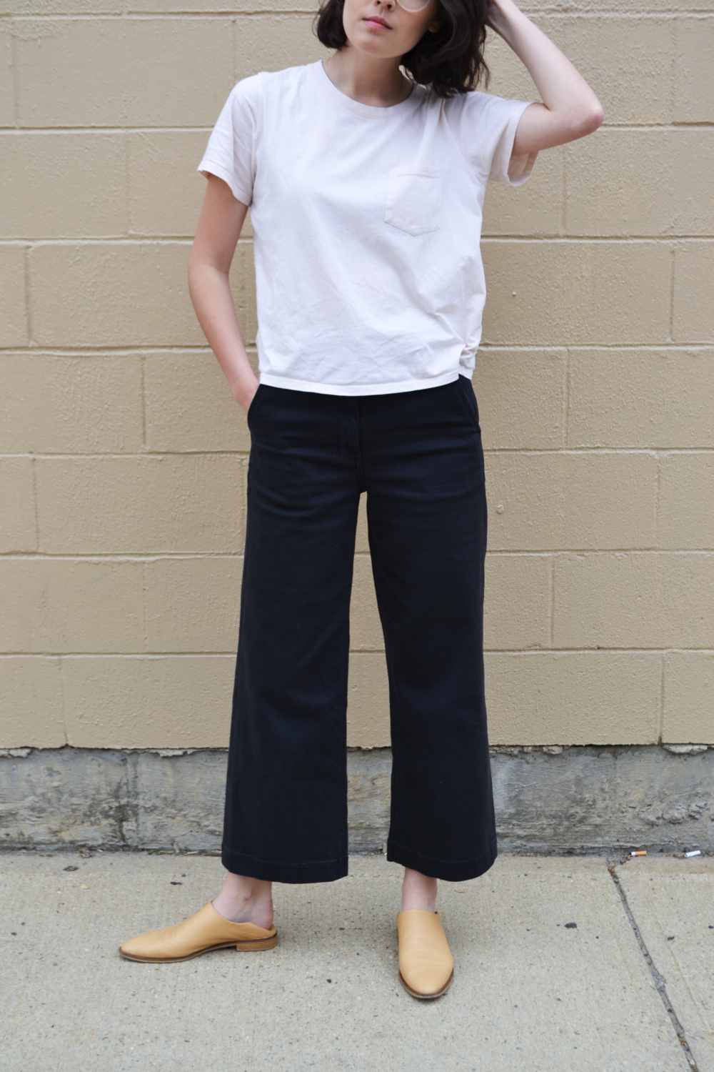 Everlane | The Wide Leg Crop Pant in  True Black $68