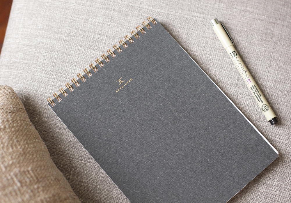 Appointed Co | Charcoal Gray Notebook $24