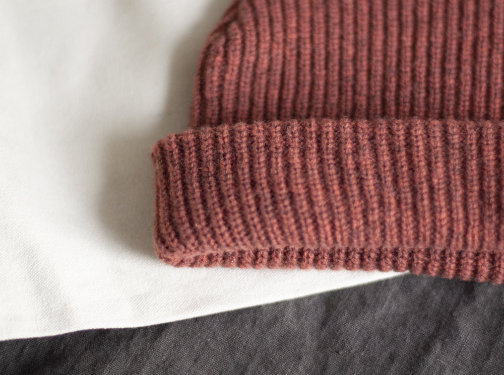 The Adult Port Beanie in Burnt Sienna | James Street Co $45