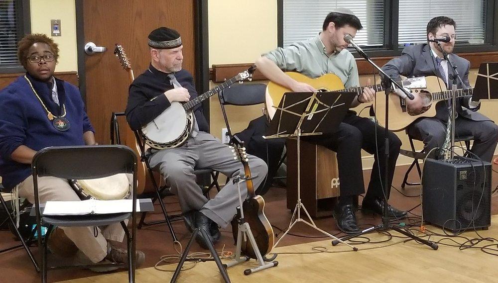 Musicians KB Frazier_Will Soll_Rabbi Daniel Bogard_Cantor Joshua Finkel.jpg