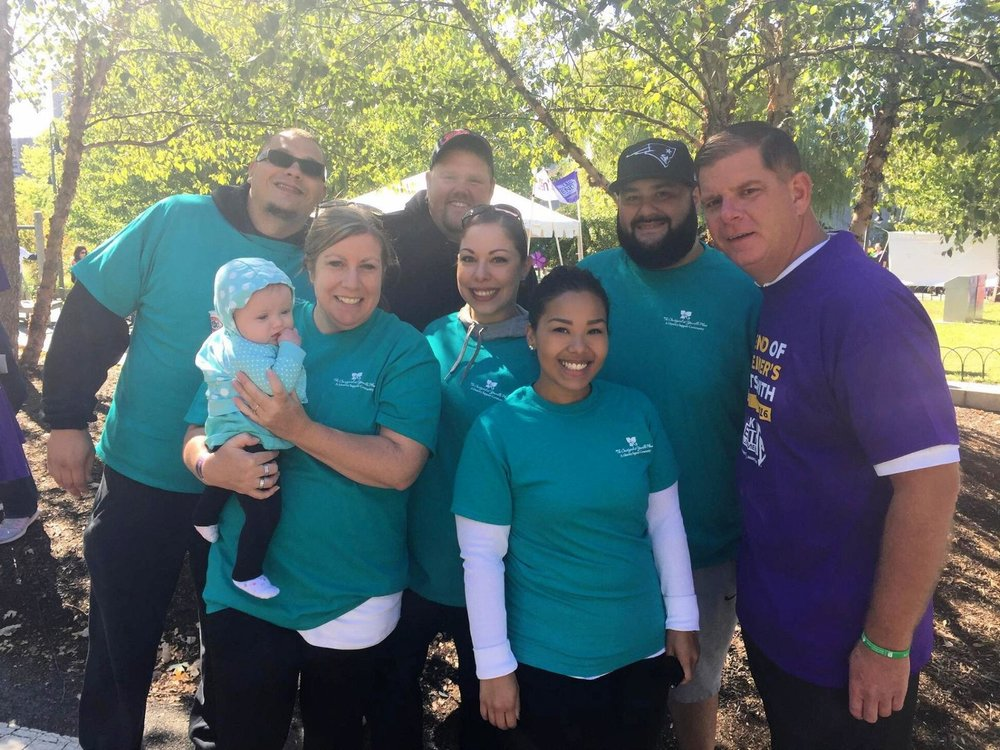 Mayor Marty Walsh joins members of Team Youville at the 2016 Walk to End Alzheimer's.