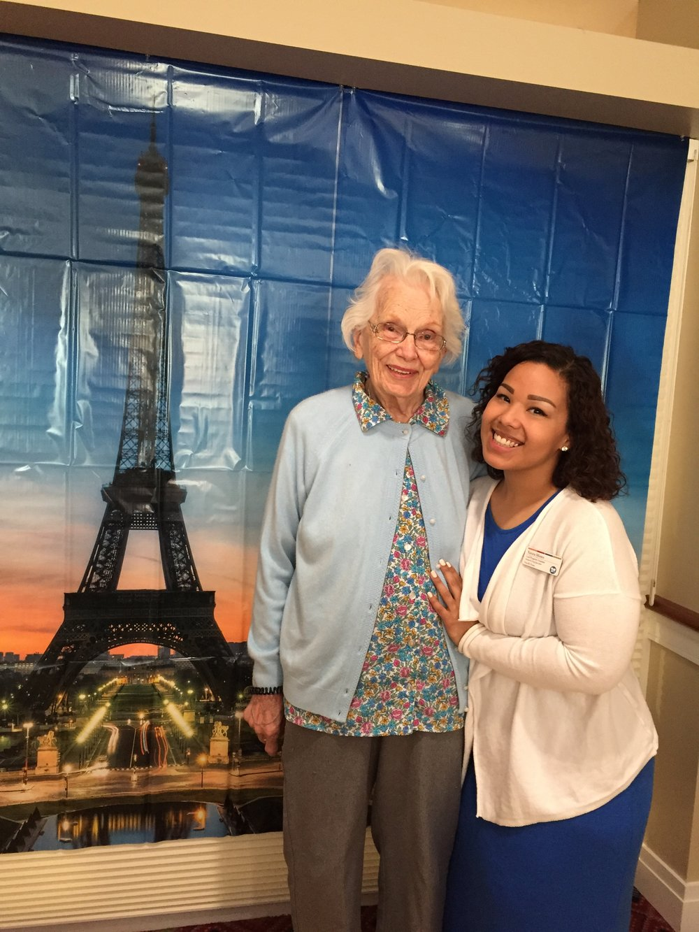 Youville resident Alice Raulinaitis, pictured with Lead Programs Assistant Yanira Motto, drafted the initial proposal for what would become the Citywide Senior Center in Cambridge.