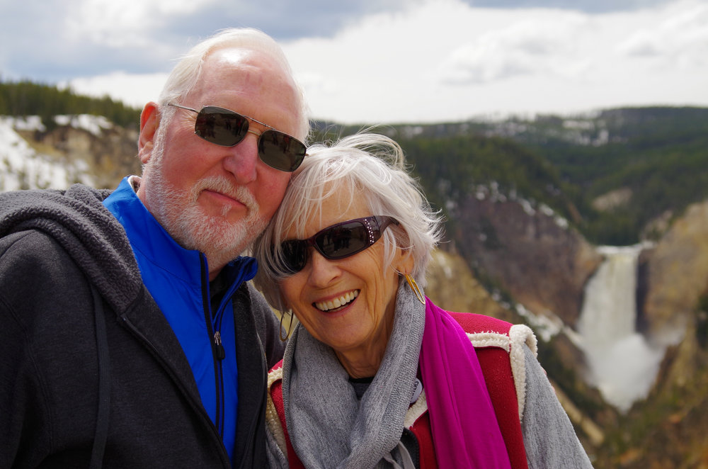 My grandparents in front of the Grand Canyon of Yellowstone. The lookout here is called  Artist Point , and has inspired thousands of people to paint, draw or otherwise recreate the majestic canyon.