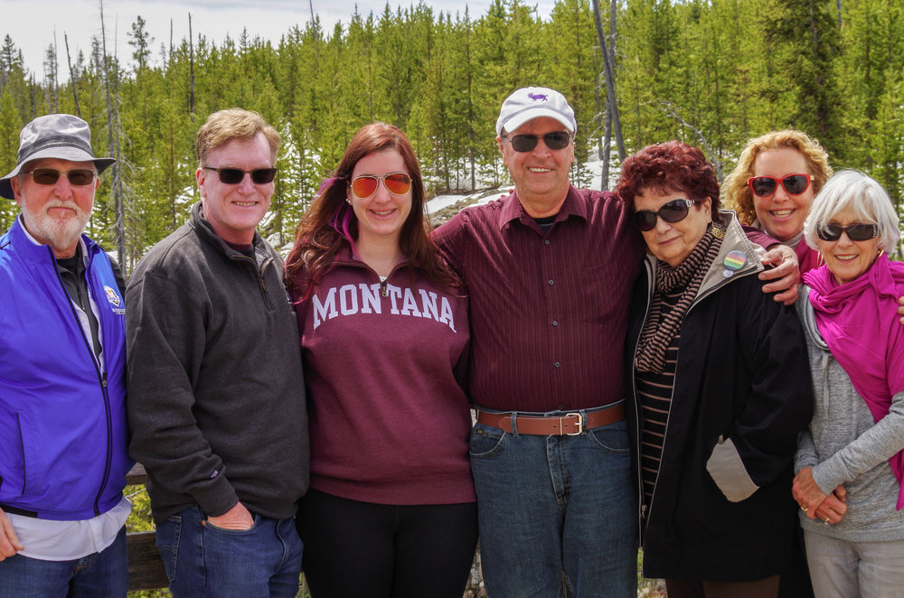 Eight members of my family and I (two of us aren't pictured) escaped our hectic lives and traveled to Yellowstone National Park for the better part of a week.