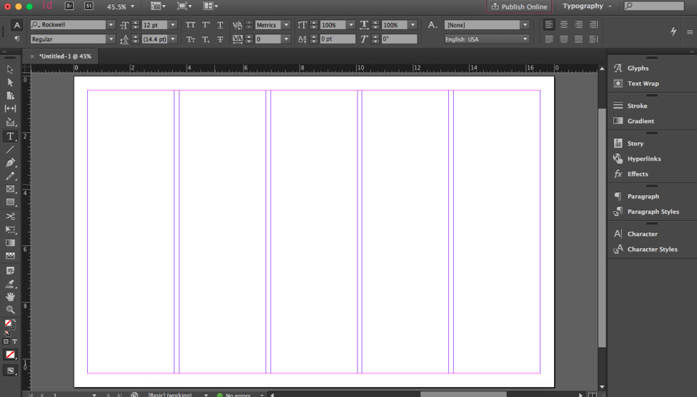 Ah, a blank InDesign document — a scary (and exciting) opportunity.