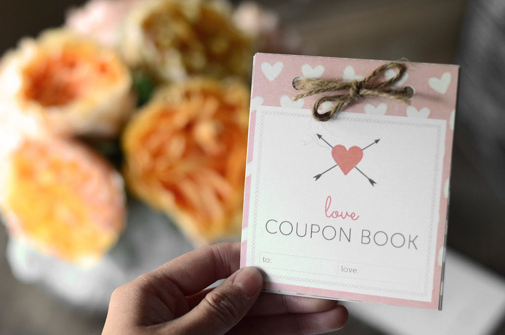 coupon book is a great gift for acts of service love language
