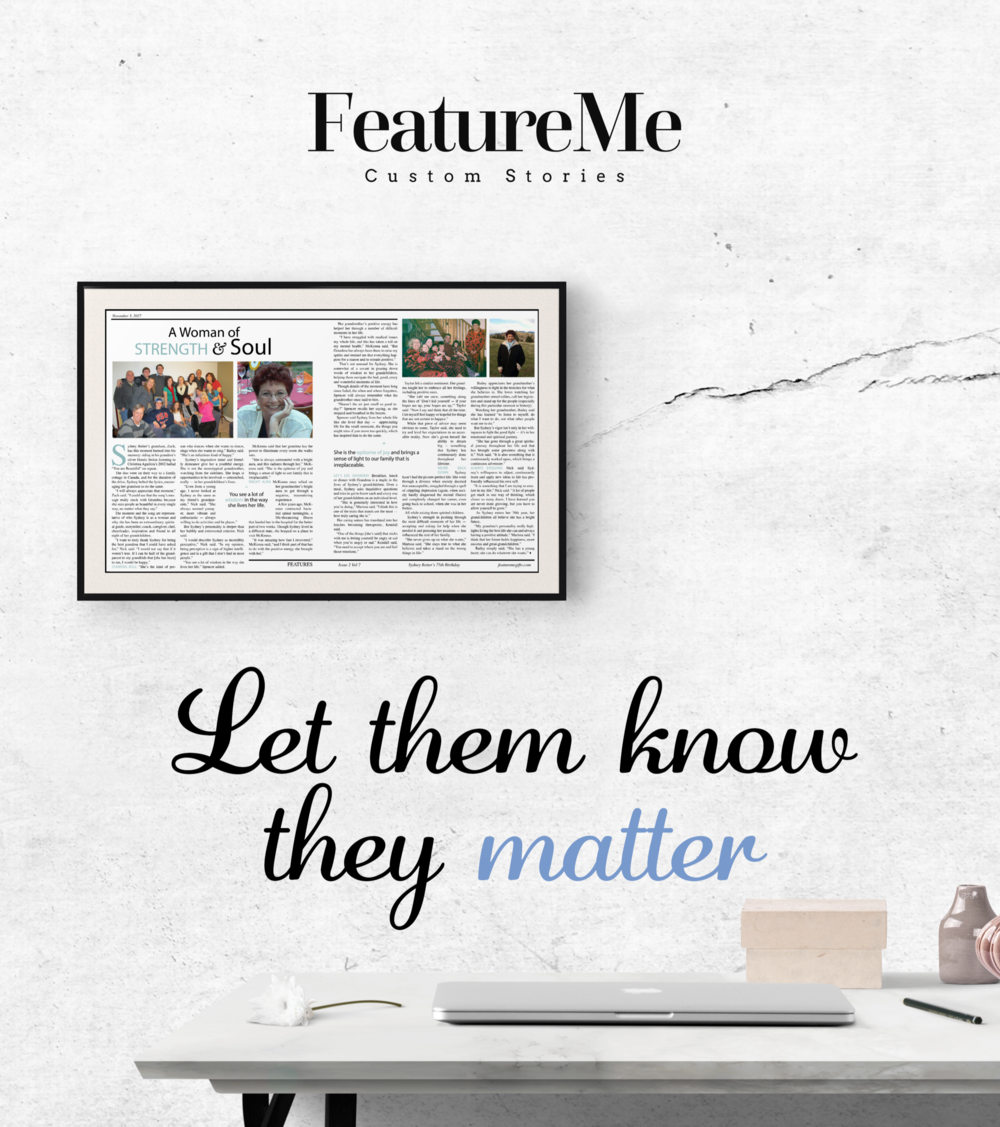 let them know they matter with a grandparent feature about them