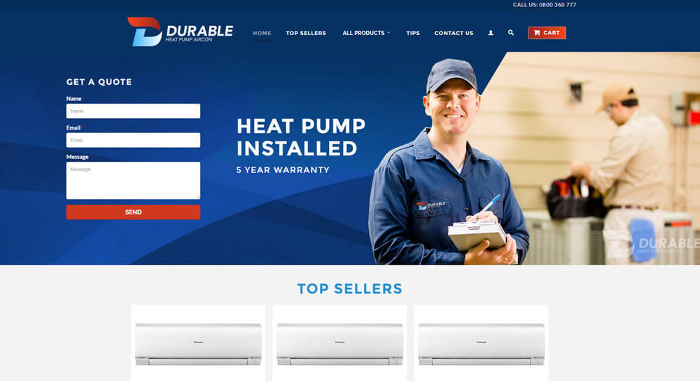 Durable Heat Pumps    www.durableheatpump.co.nz