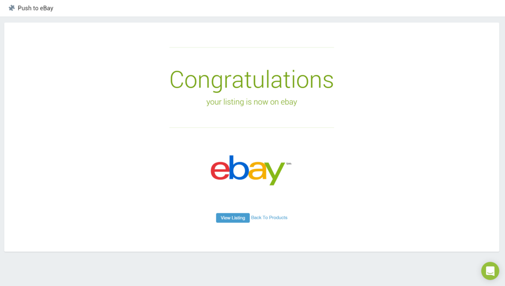Congratulations! You're now selling on Ebay