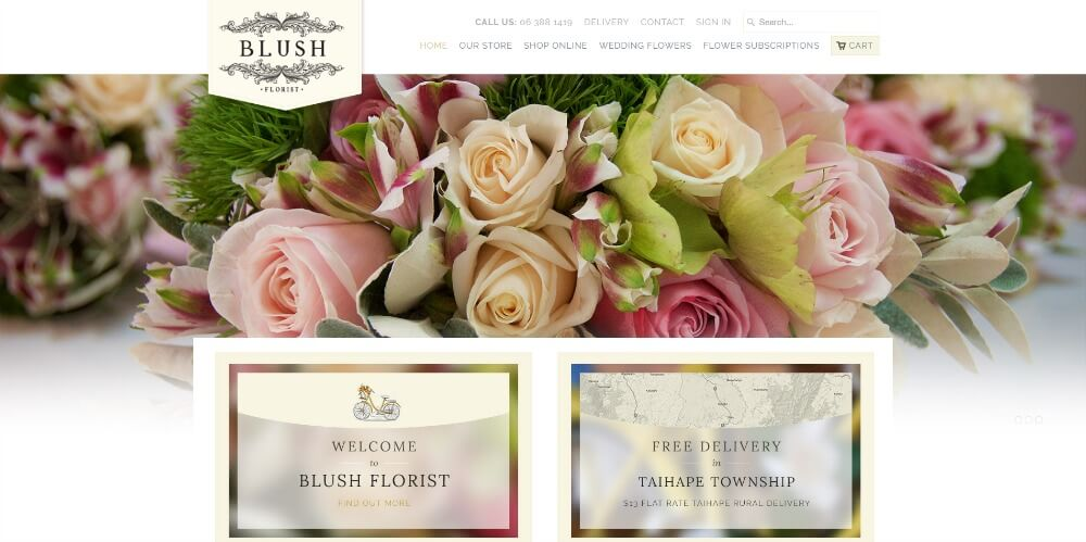 Blush Florist www.blushflorist.co.nz