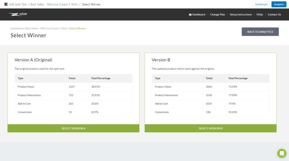 Split Test App for Shopify - Pick a Winner