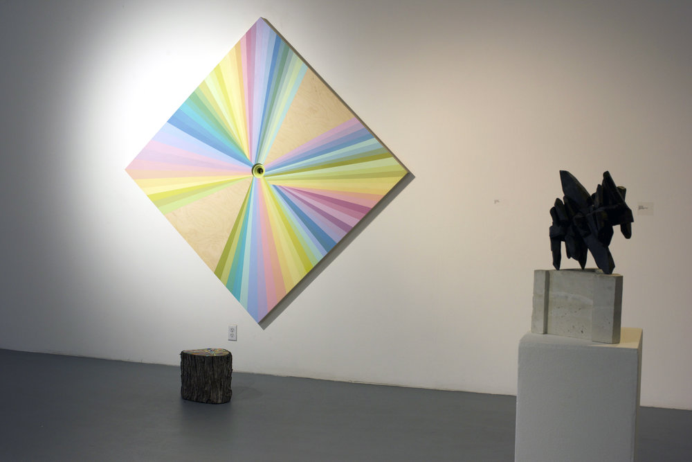 The Rainbow Warrior painting, Ritual stump & Black crystal