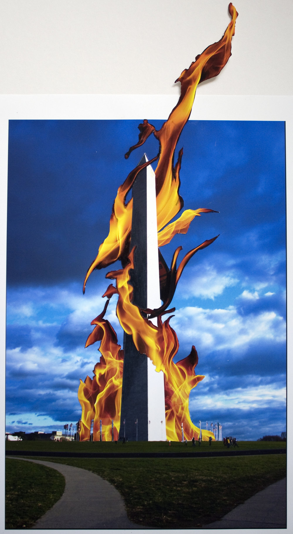 Washington Monument on Fire