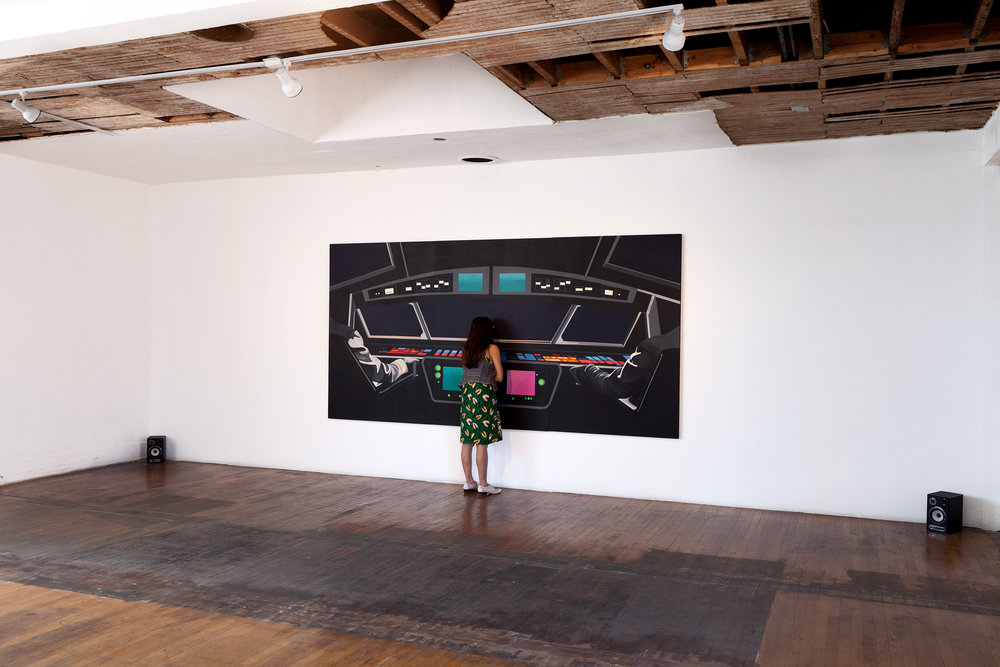 Rainbow Control Room Painting (Install view)
