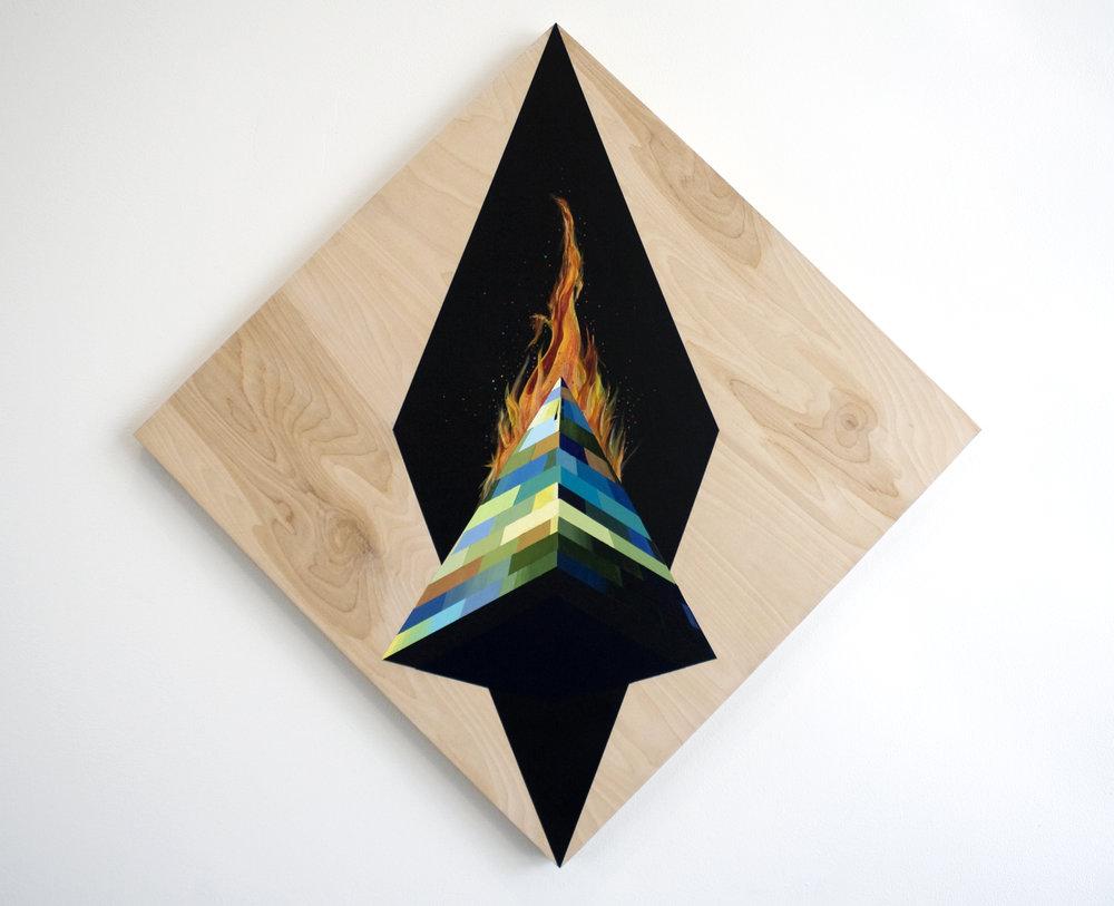 Obelisk on Fire,