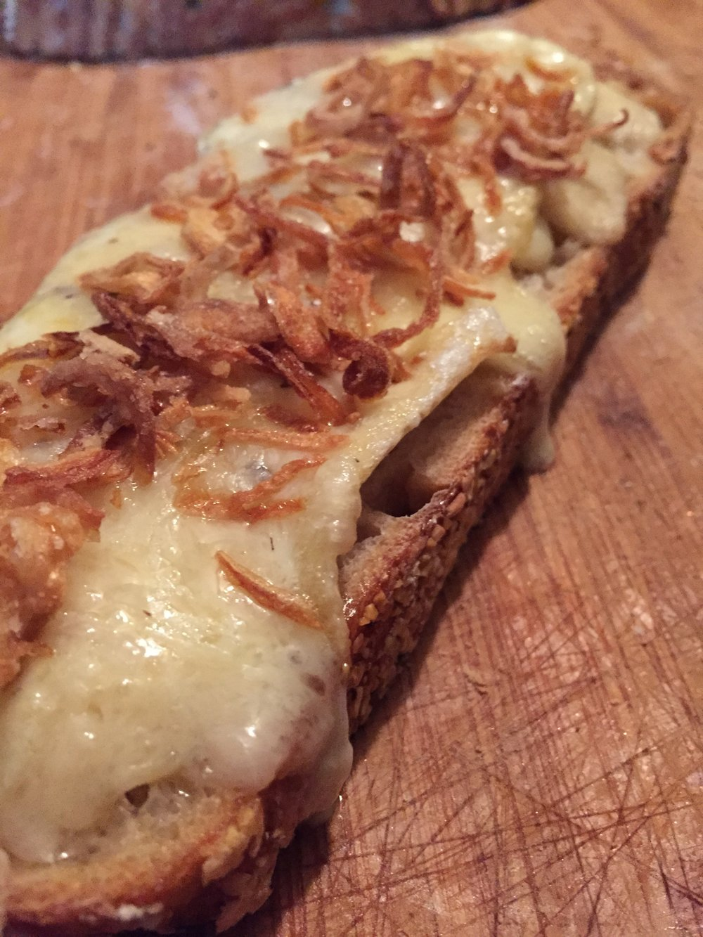 Grilled cheese with Fried shallots.JPG
