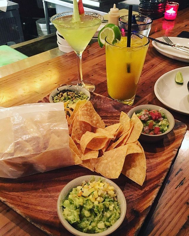 Guacamole three ways, mango sangria and a green monster martini...the truffle guacamole was the best in case you were wondering! @ticorestaurant