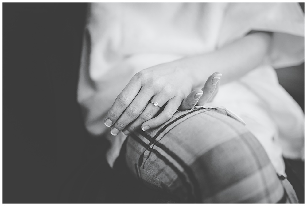 close up of engagement ring - creative wedding photographer