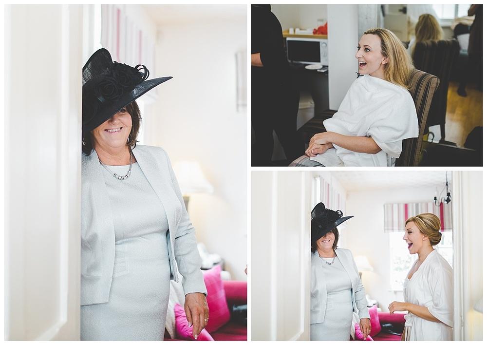 bride's mum at samlesbury hall in preston