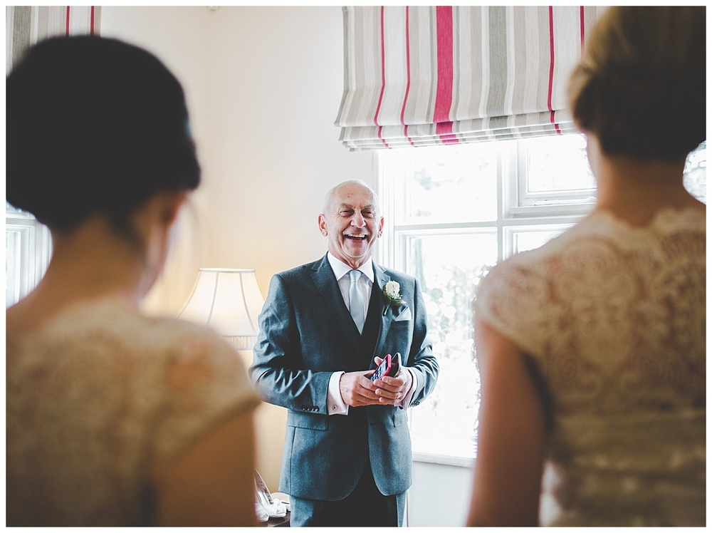 bride's dad - samlesbury hall wedding