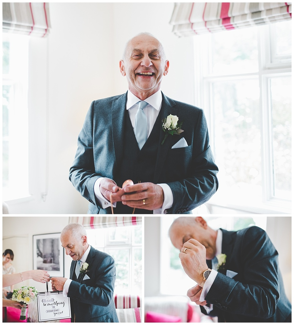 gift for dad - wedding at samlesbury