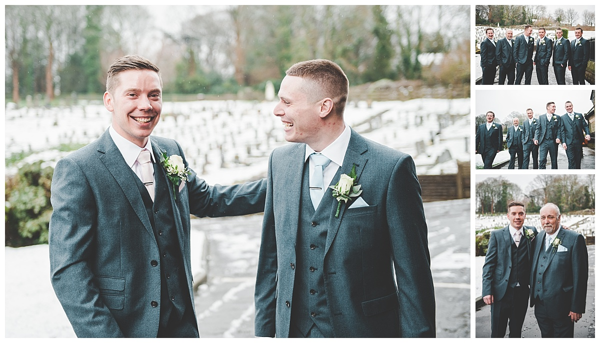 relaxed images of groom and best man