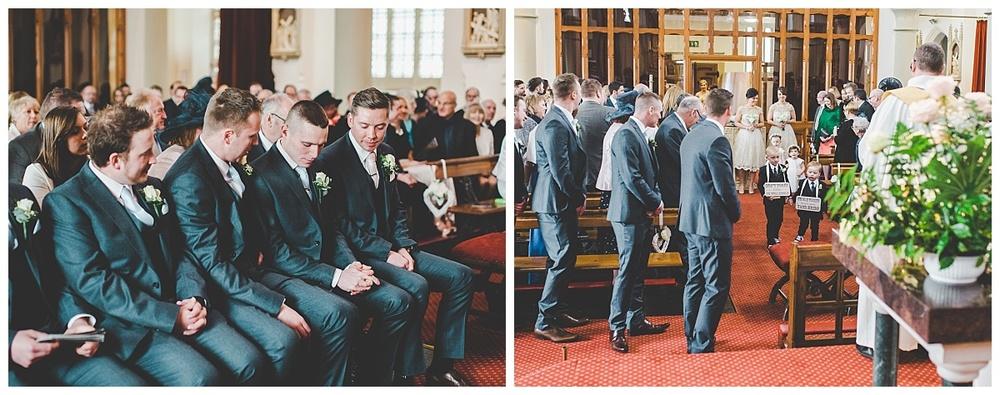groom waiting for the bride - lancashire wedding photographer