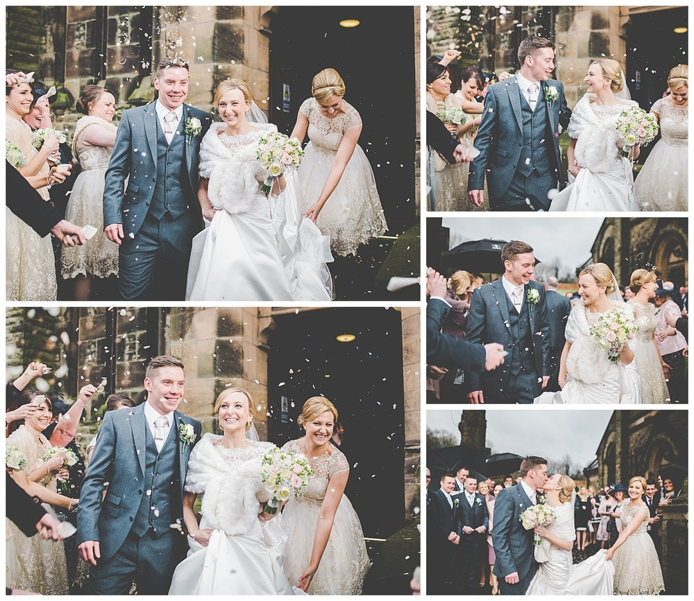 the confetti shot - creative natural wedding images in Lancashire