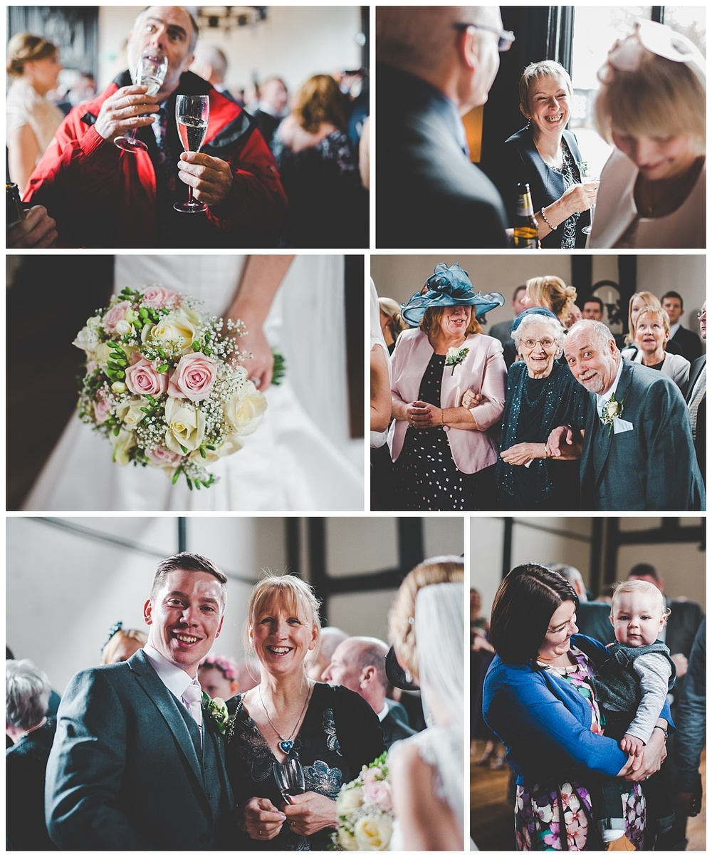 images of guest at samlesbury hall wedding