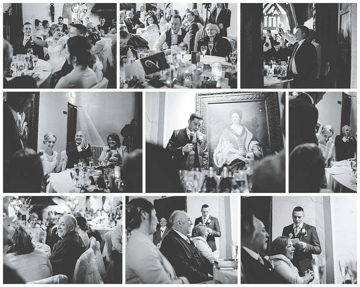 black and white wedding photography - samlesbury hall wedding