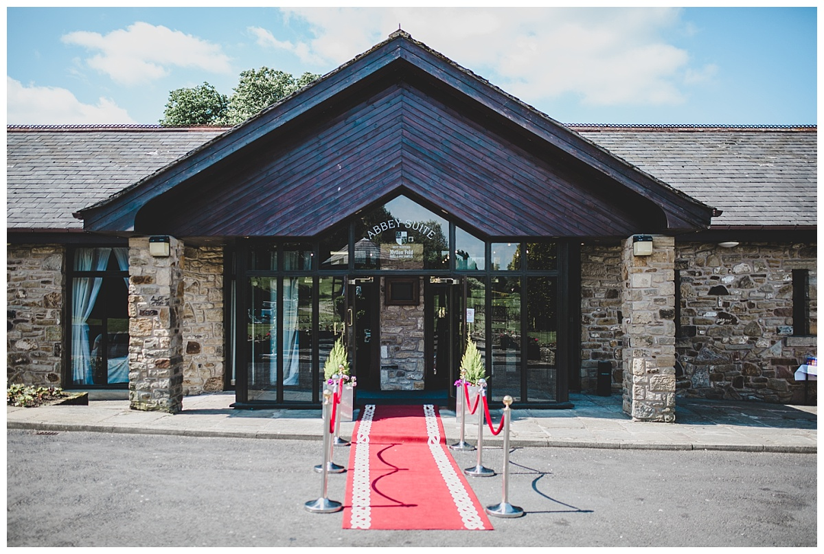 exterior shot of mytton fold wedding venue
