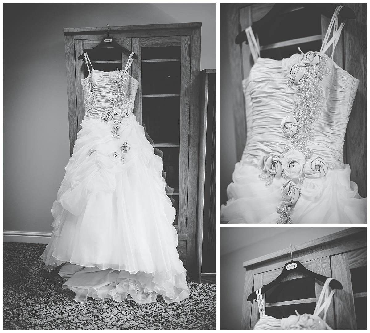 brides dress at mytton fold